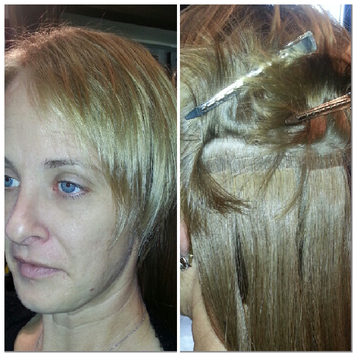 before hair extensions Hotheadz salon