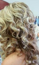 long curls wedding, prom